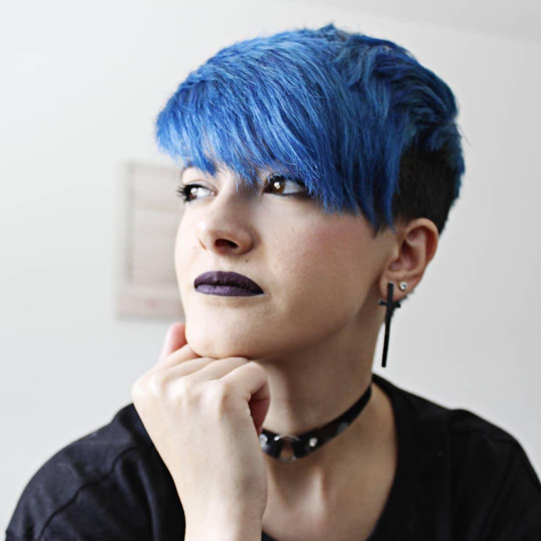 sidecut blu lisci