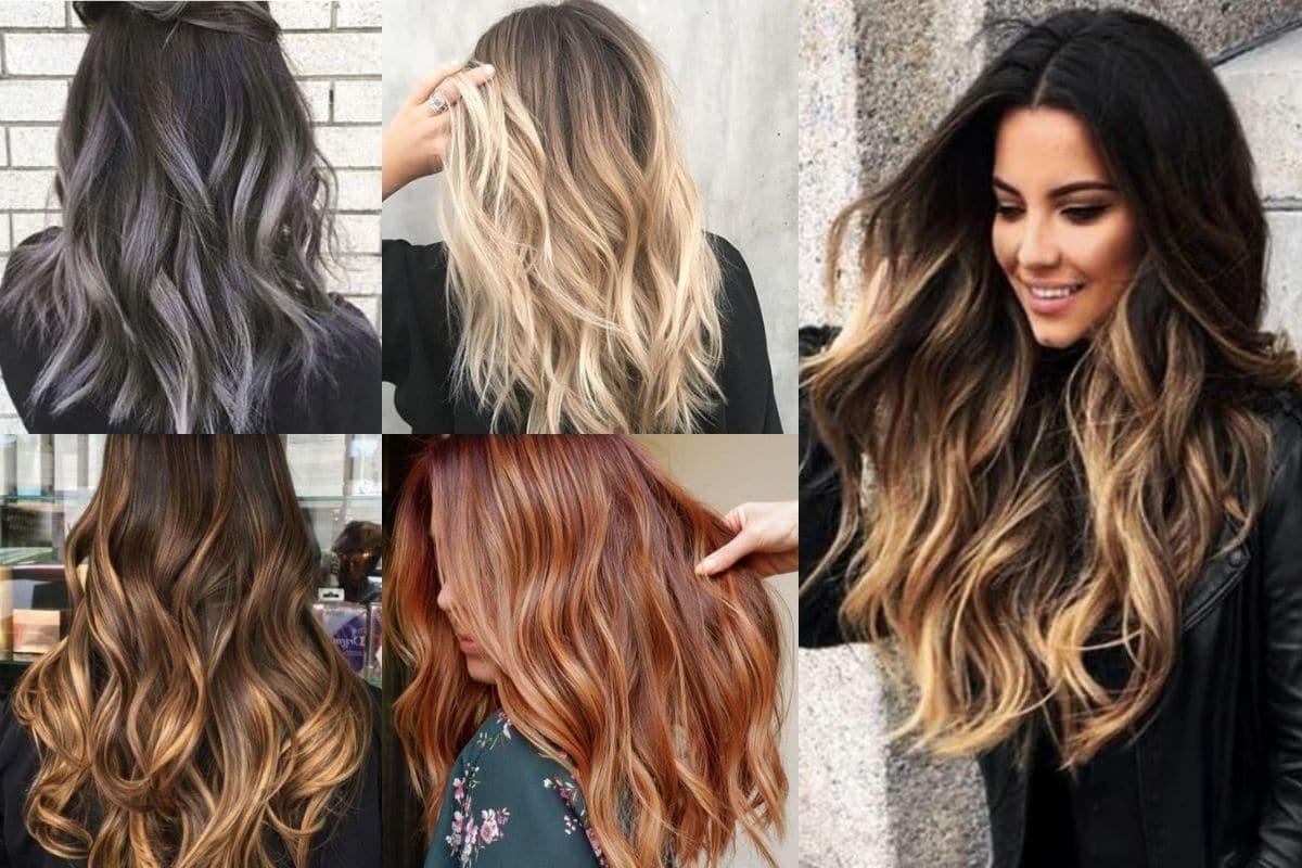 balayage capelli colori