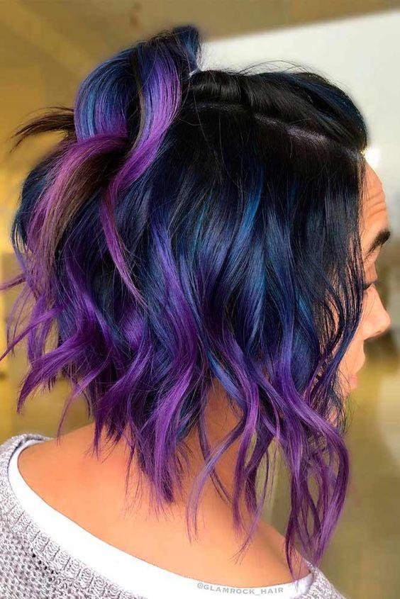 medi mossi blu viola