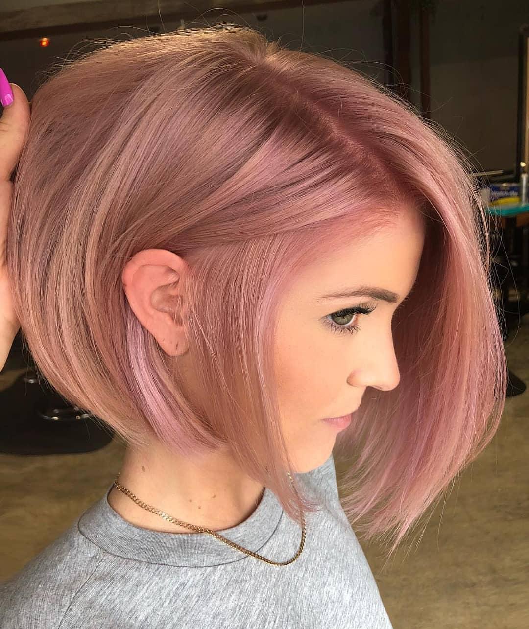 capelli rosa bob