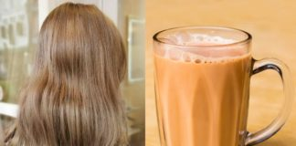 cover milk tea hair