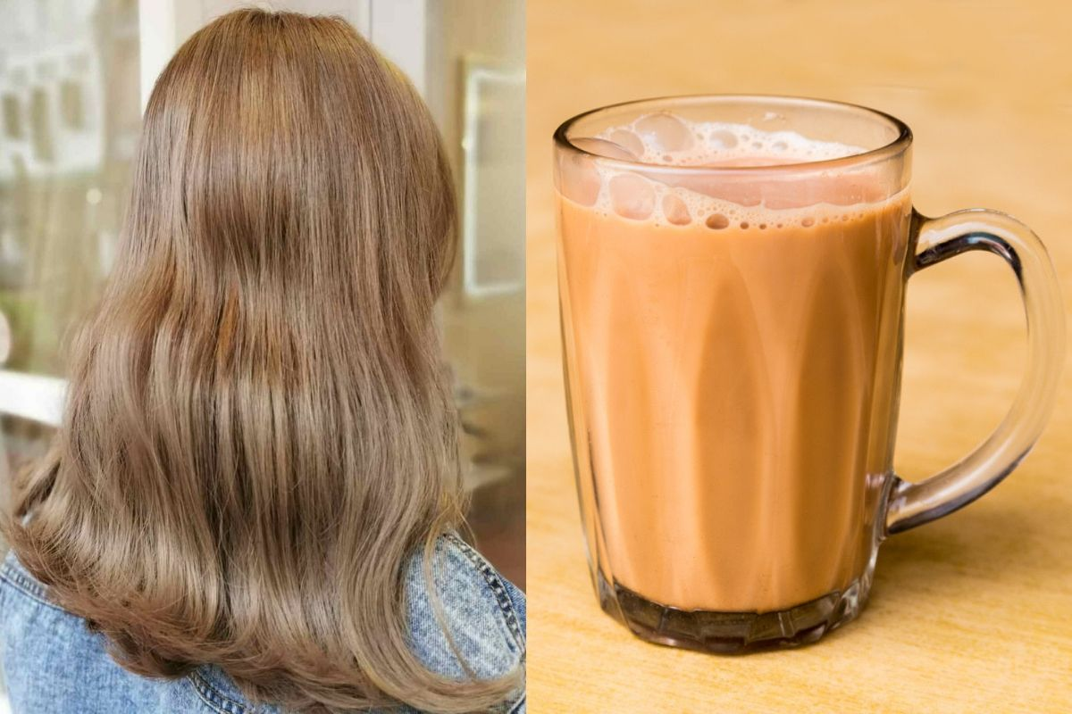 cover milk tea hair