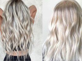 icy white hair