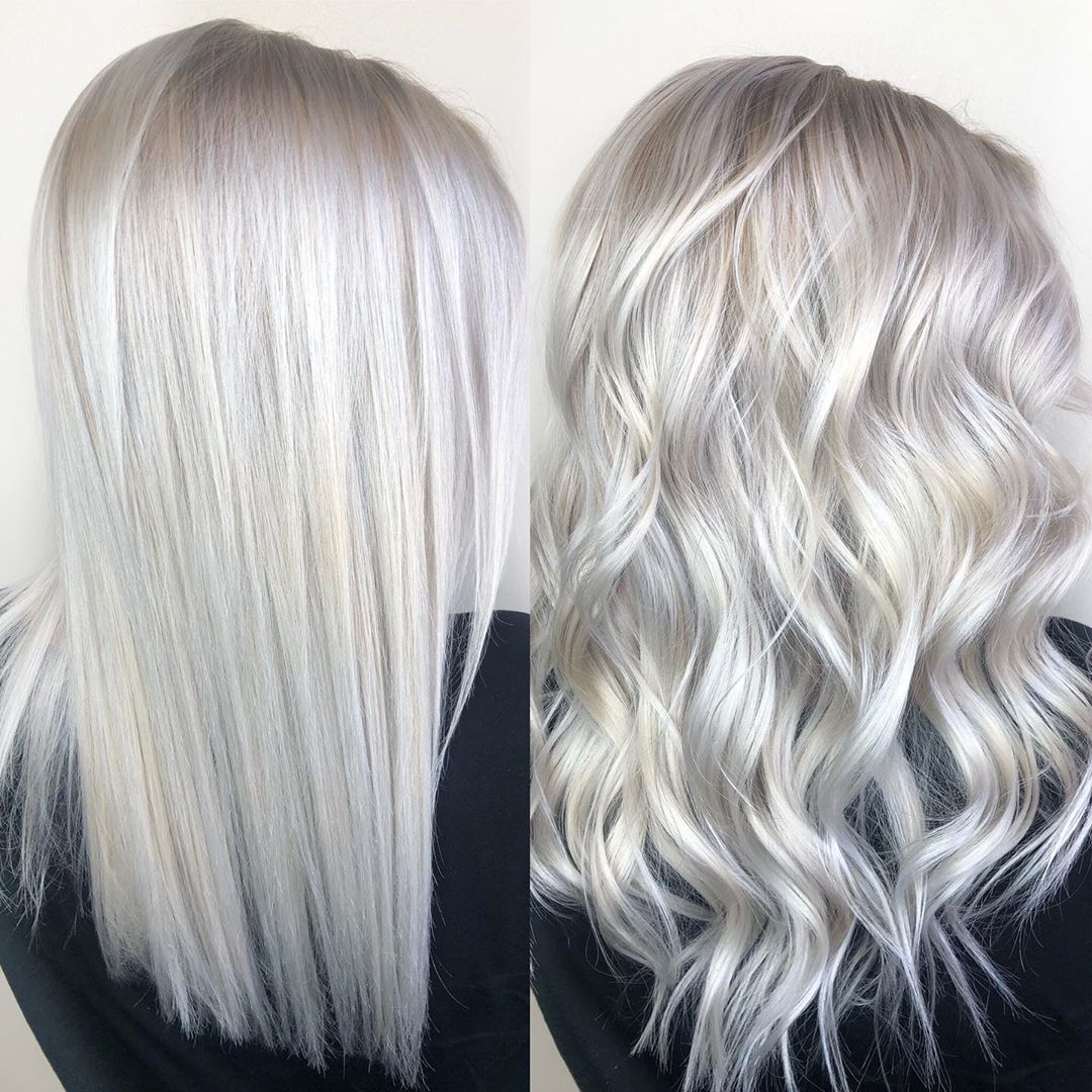 icy white hair