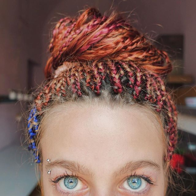 treccine afro rosa
