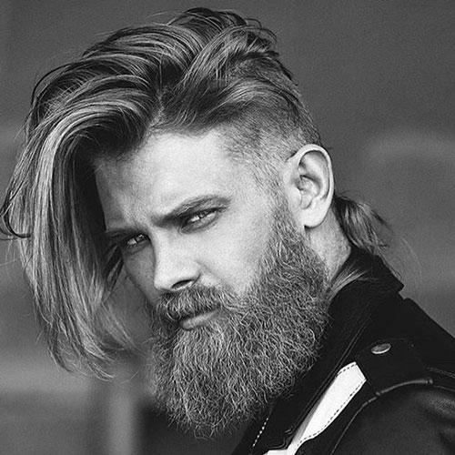 barba uomini capelli lunghi
