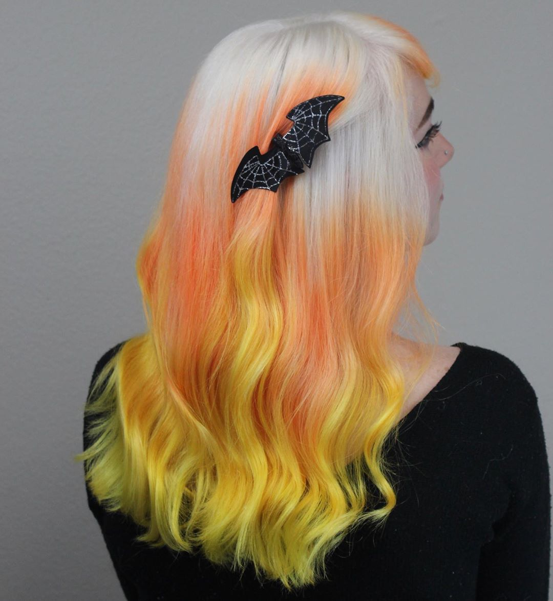 candy corn hair