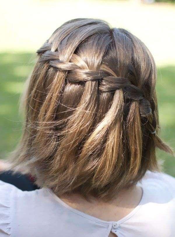 trecce capelli corti