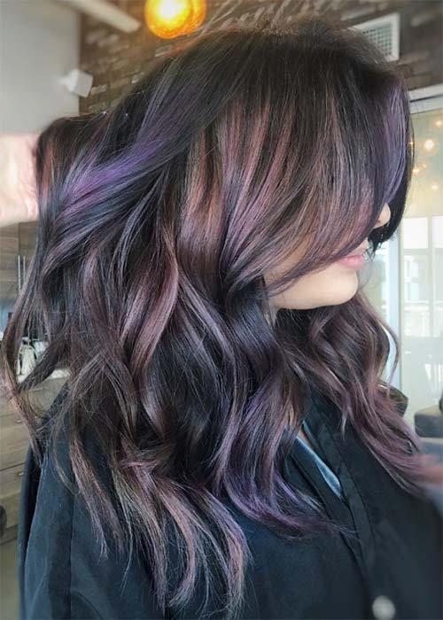 mossi lunghi viola