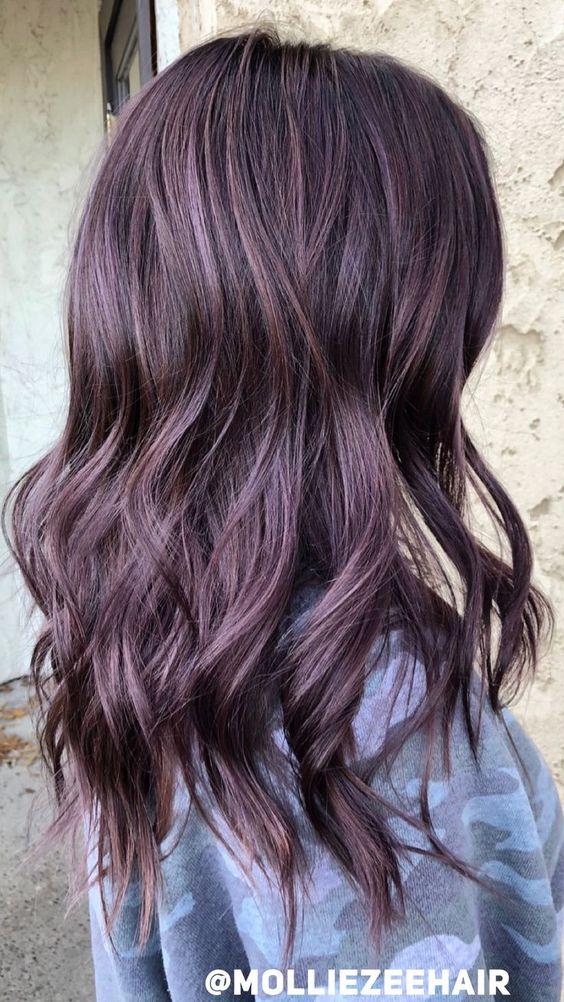 lunghi mossi viola