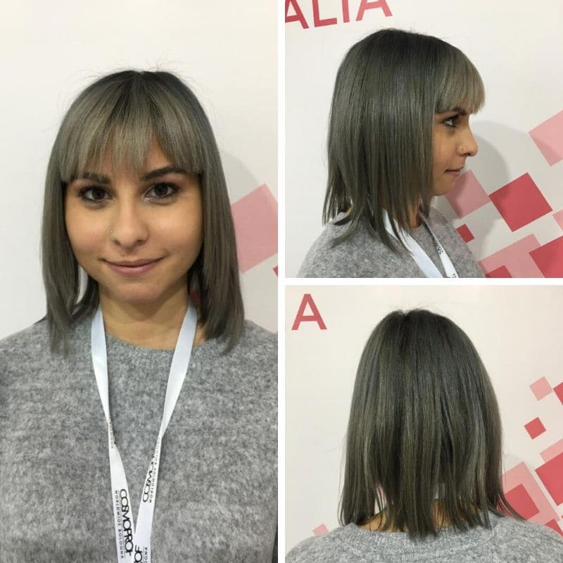 on hair bob frangia grigi