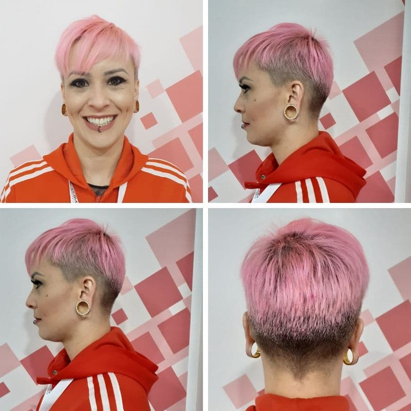 on hair pixie rosa