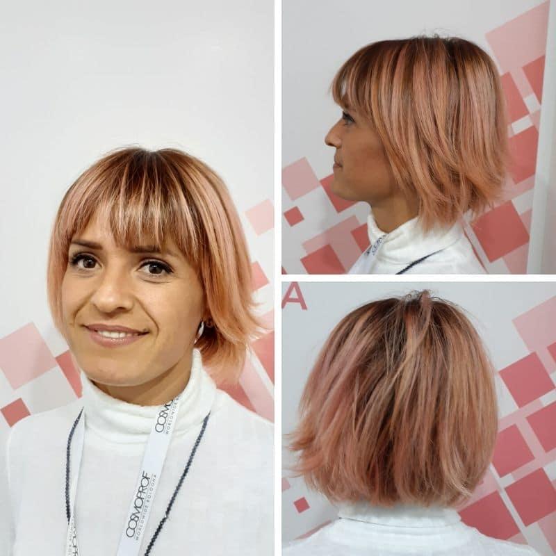 on hair rosa frangia