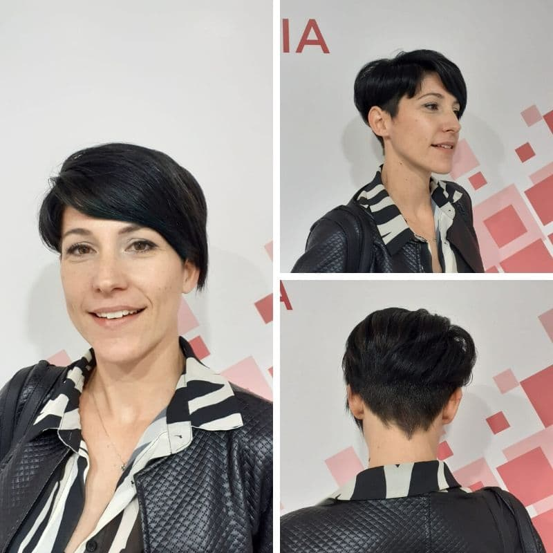 on hair pixie neri