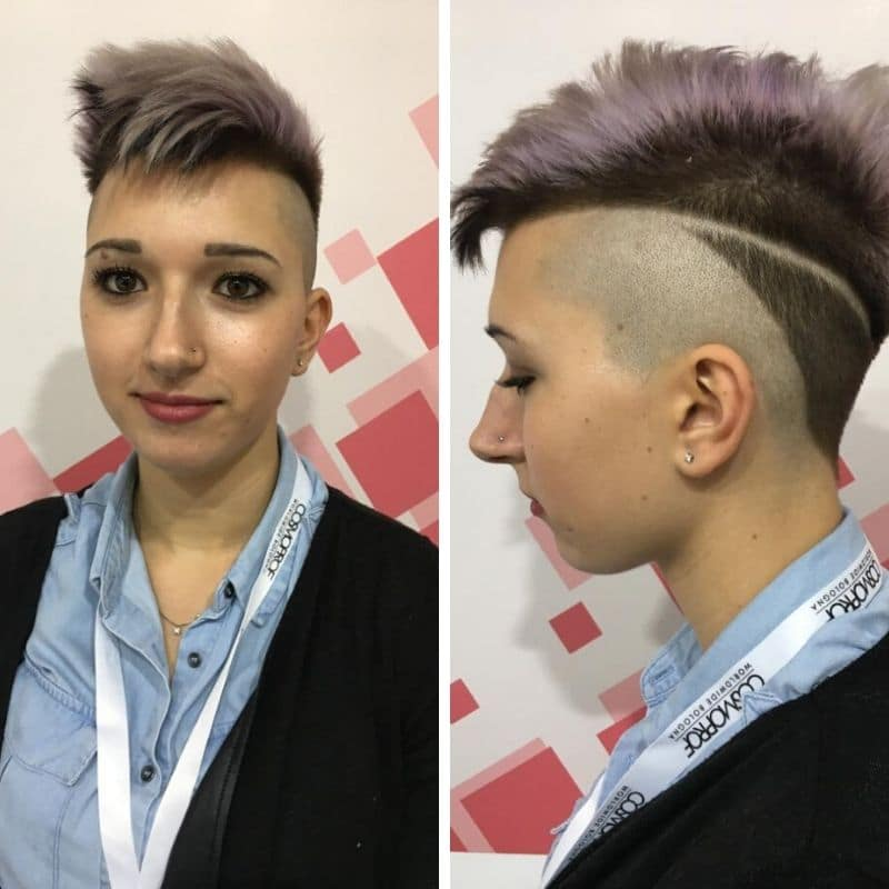 on hair undercut viola