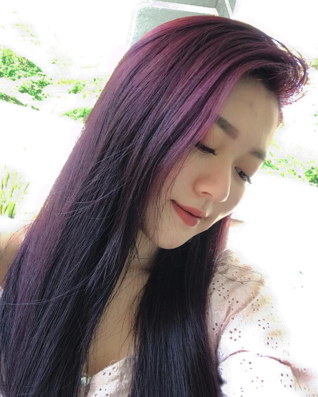 lunghi lisci viola
