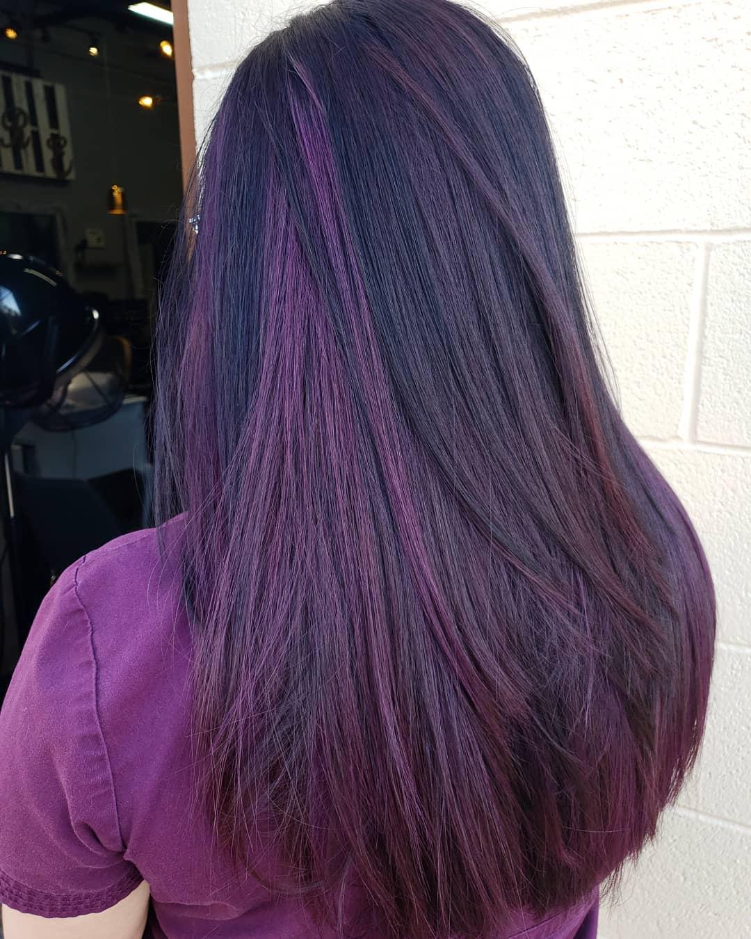 lisci viola lunghi