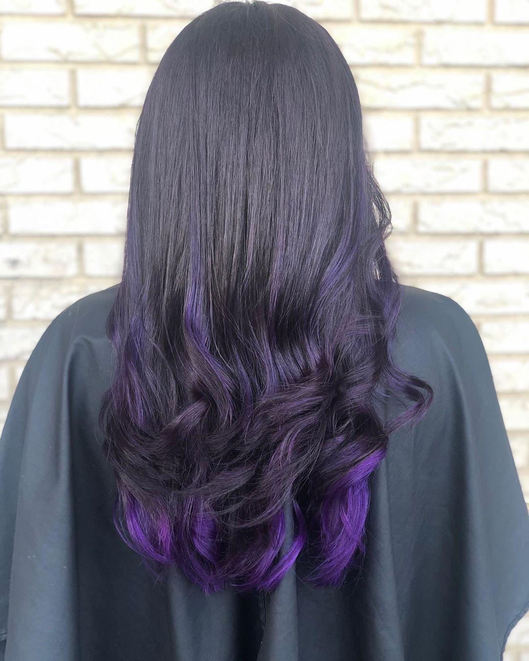 mossi viola lunghi