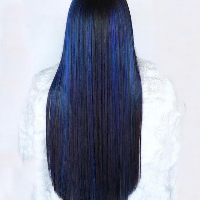 classic blue lunghi lisci