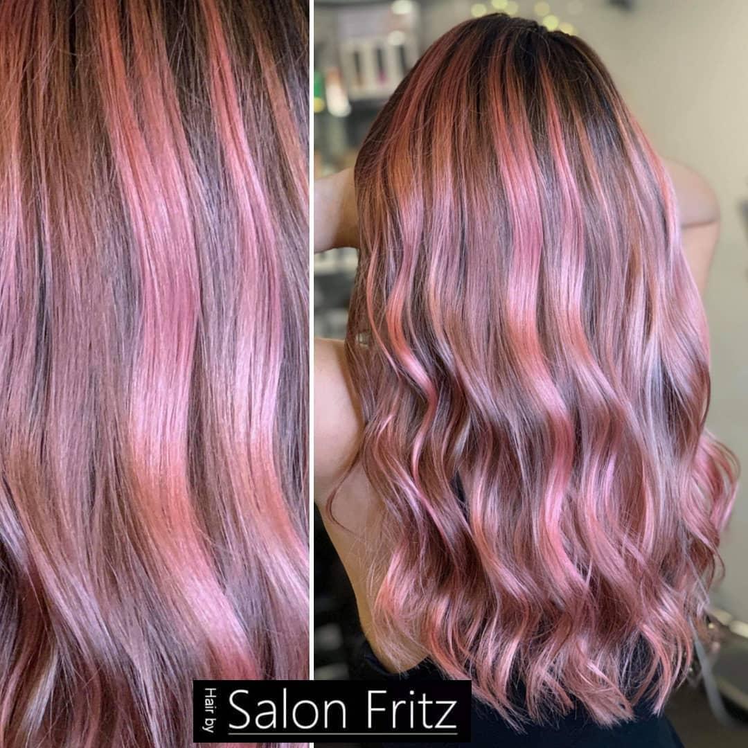 lunghi mossi rosa