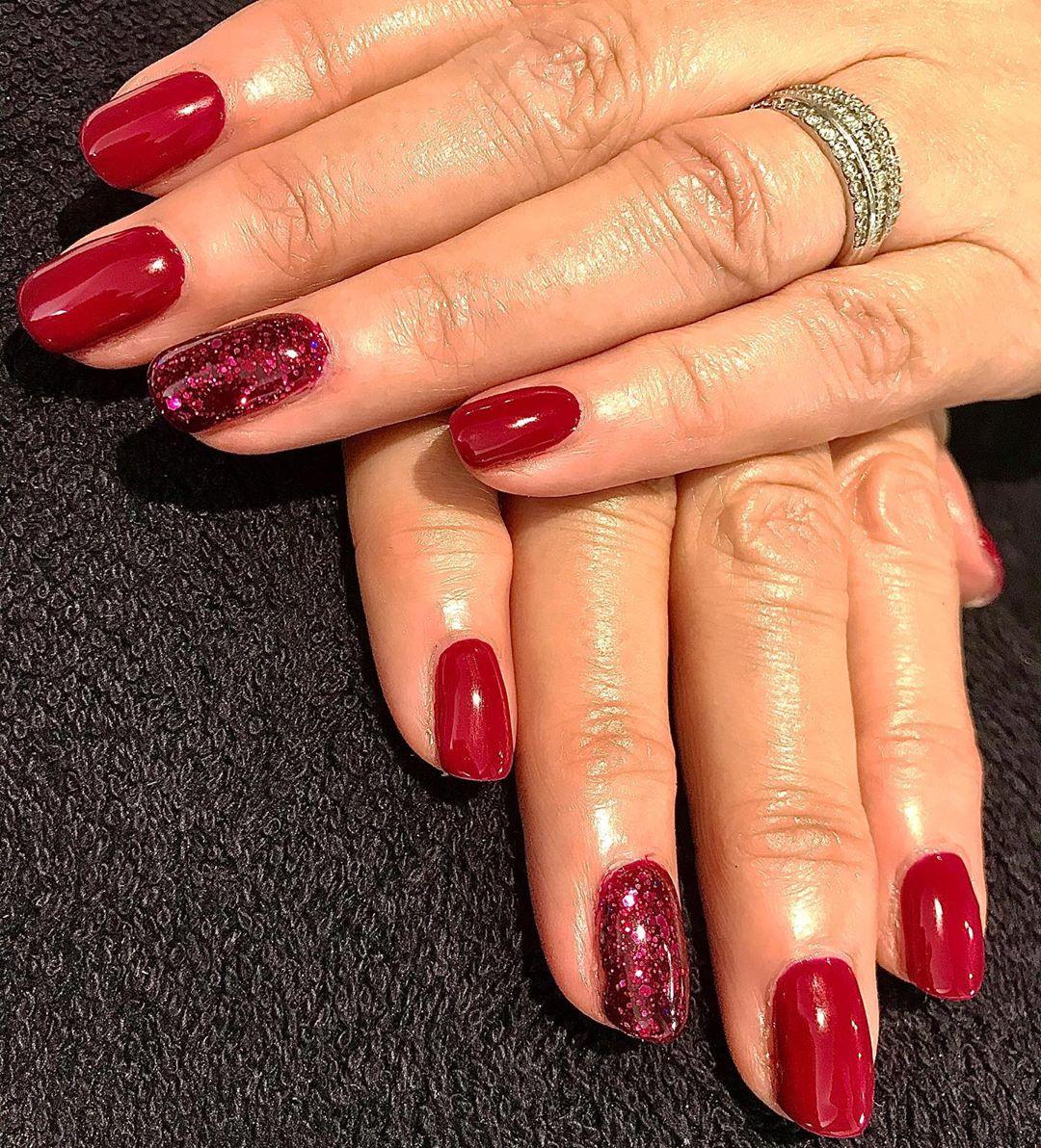 nail art rosse