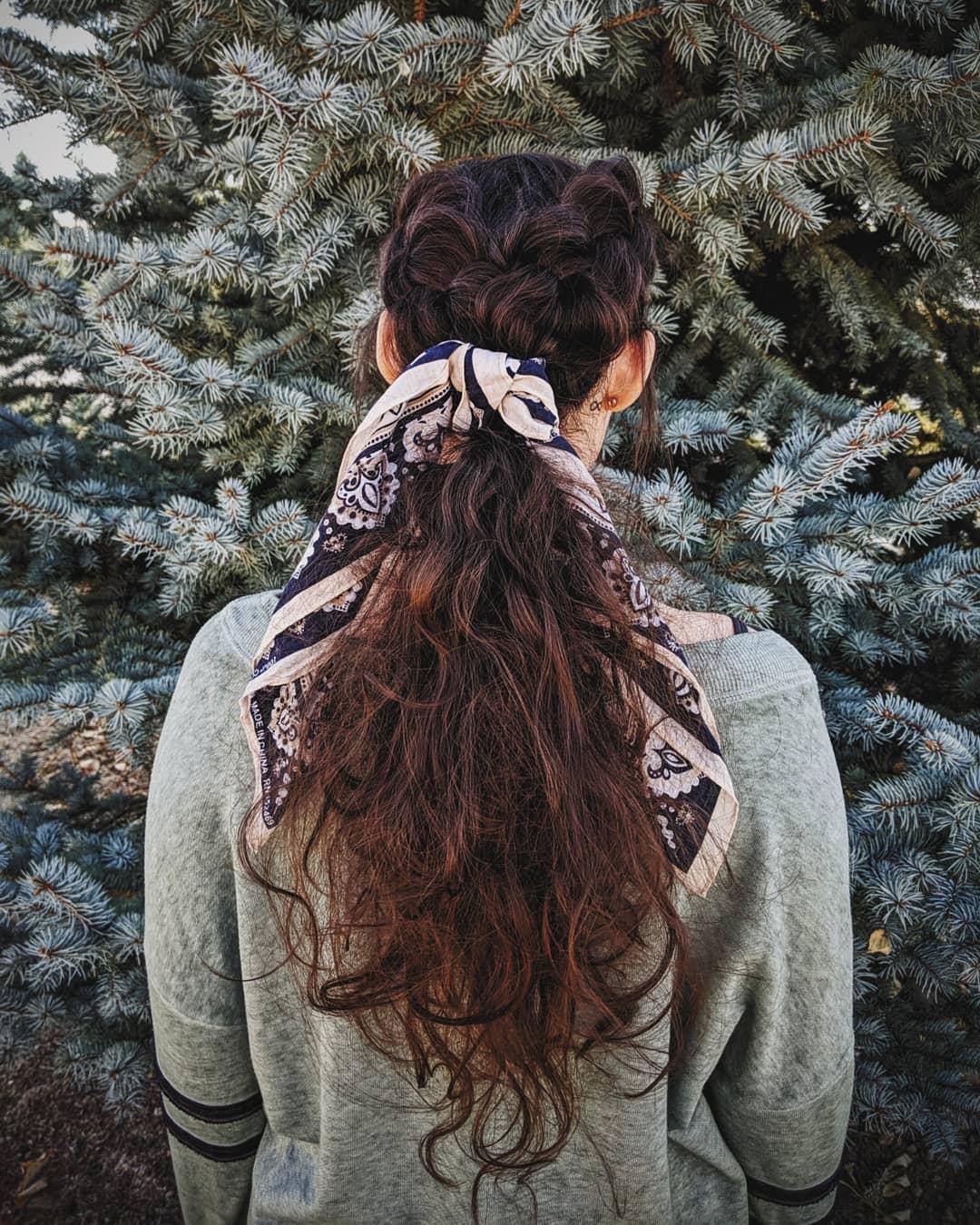 fascia capelli lunghi mossi