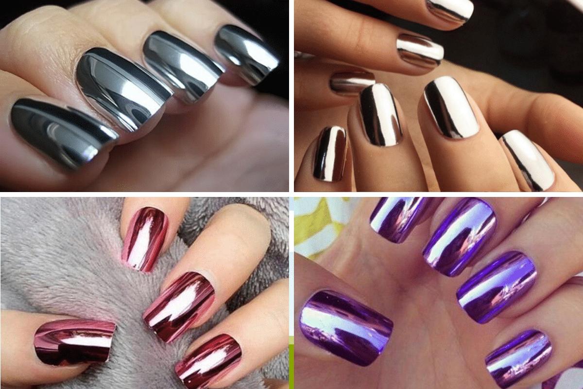 unghie effetto specchio