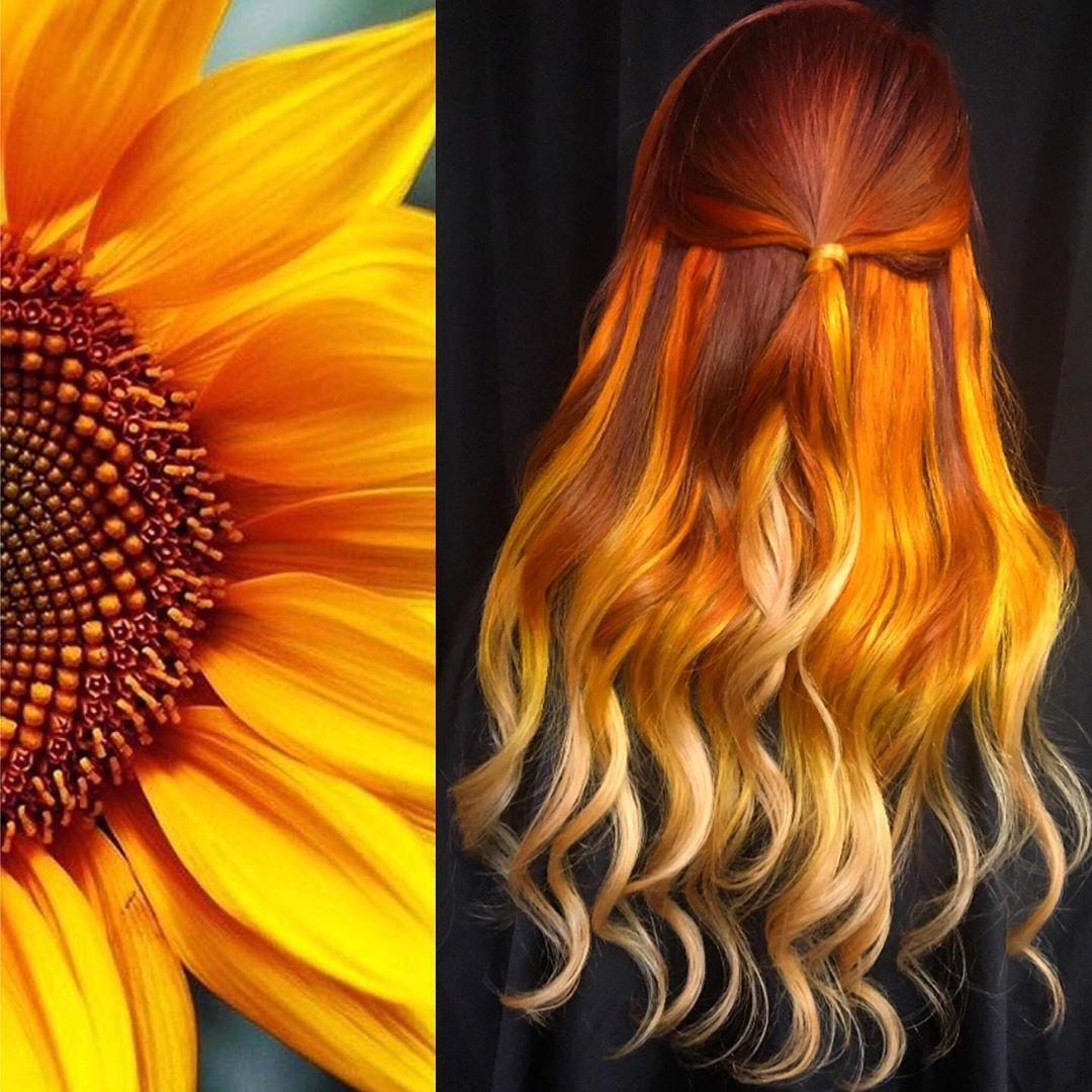 arte capelli arancio