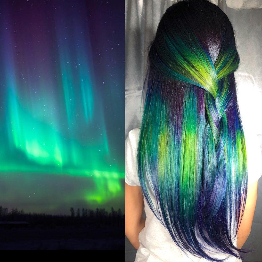 arte capelli blu