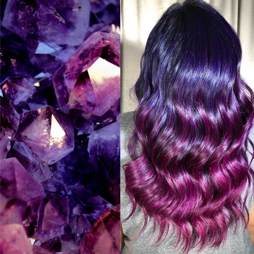 arte capelli viola
