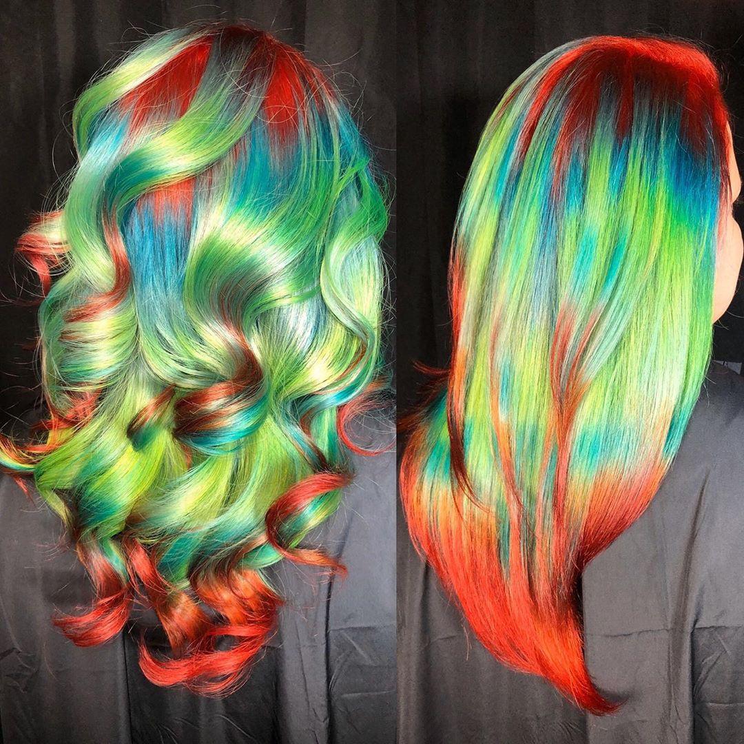 arte capelli verdi