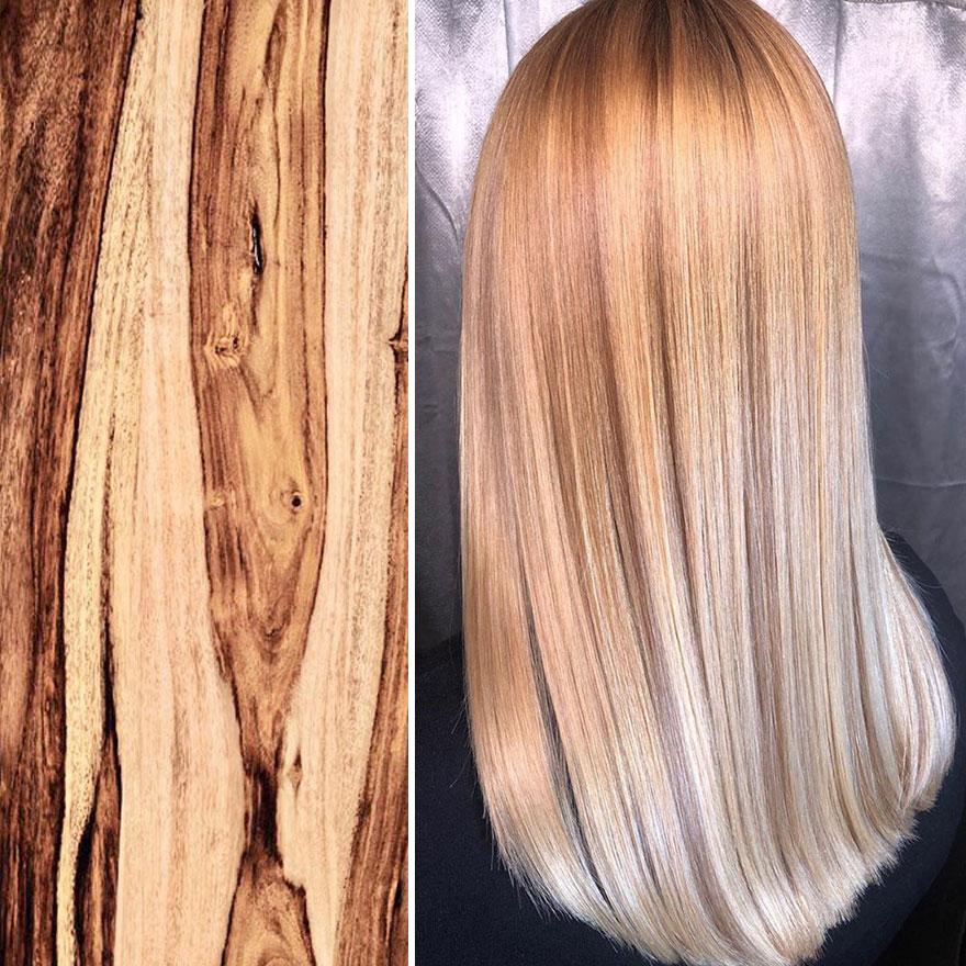 arte capelli legno chiaro