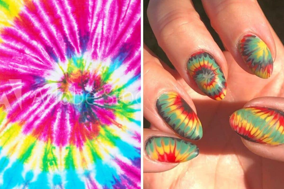 tie dye unghie