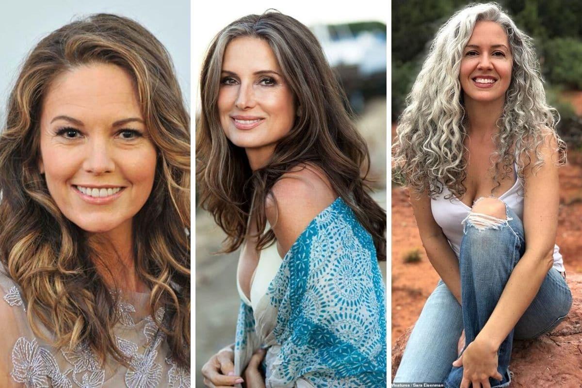 donne 50 anni capelli lunghi