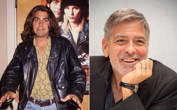 George Clooney prima e dopo