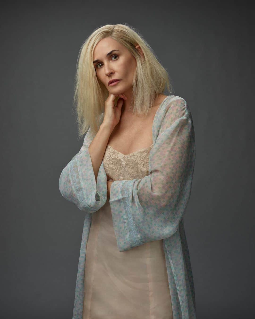 Demi Moore bionda