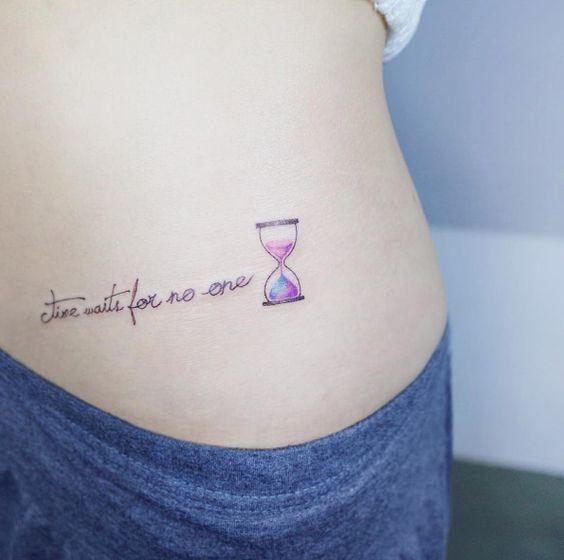 clessidra tatuaggio