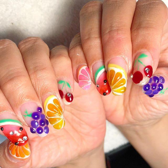 nail art frutta