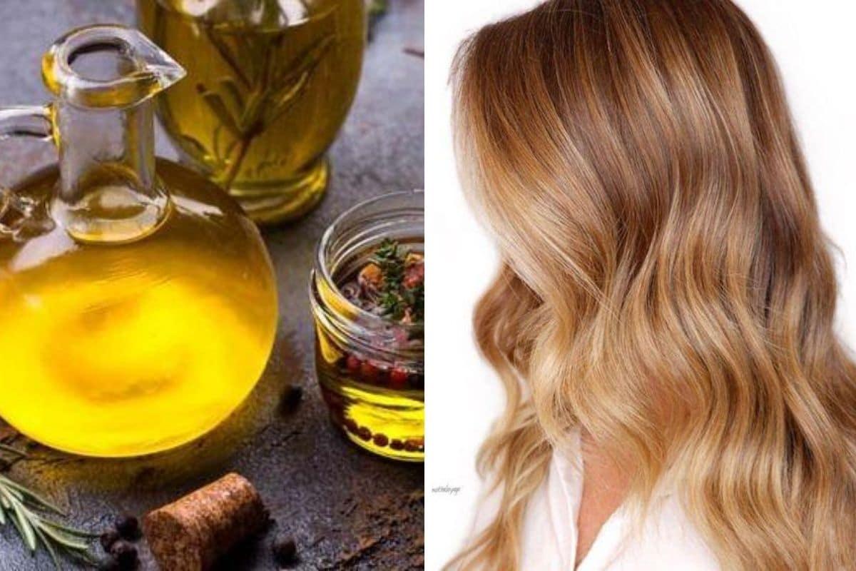 olio di oliva sui capelli