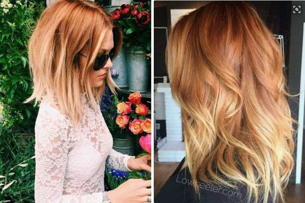 riflessi arancioni capelli