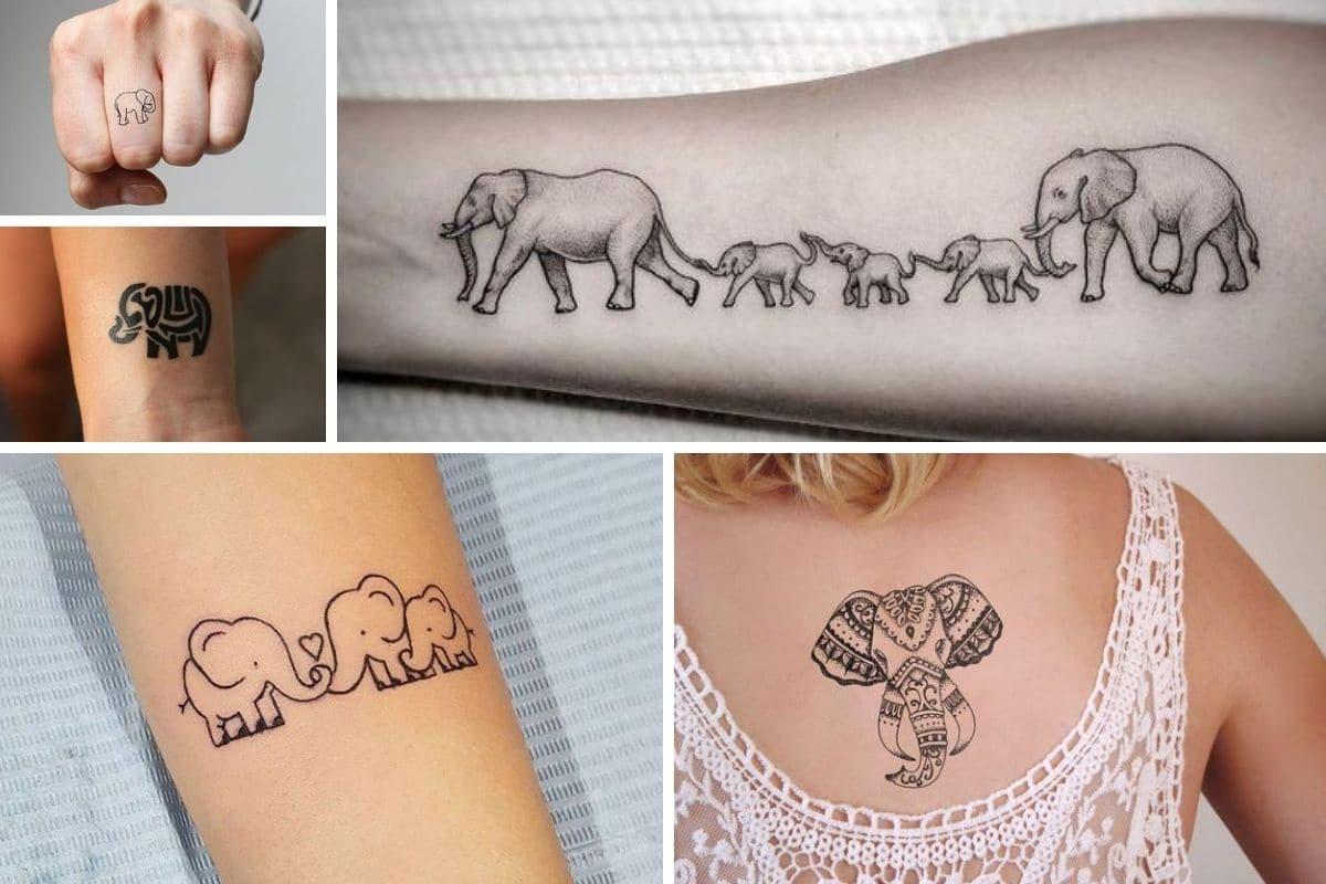 tatuaggio elefante