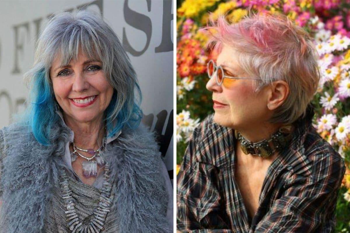 donne anziane capelli colorati