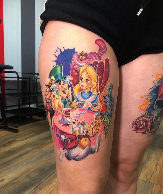 alice nel paese delle meraviglie tatuaggio