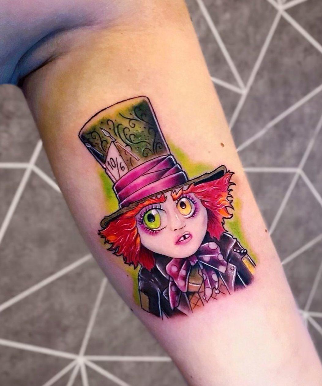 cappellaio matto tatuaggio