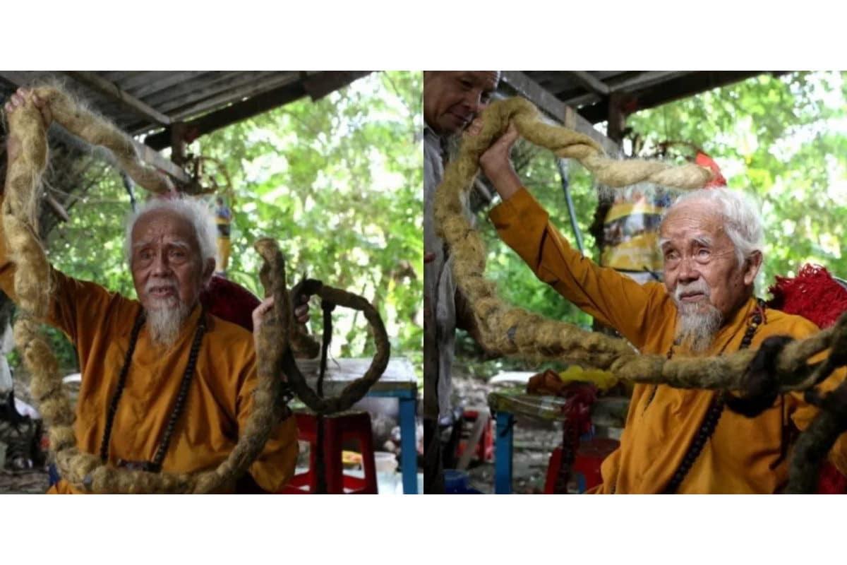 Un signore non taglia, lava o pettina i capelli da 80 anni ...