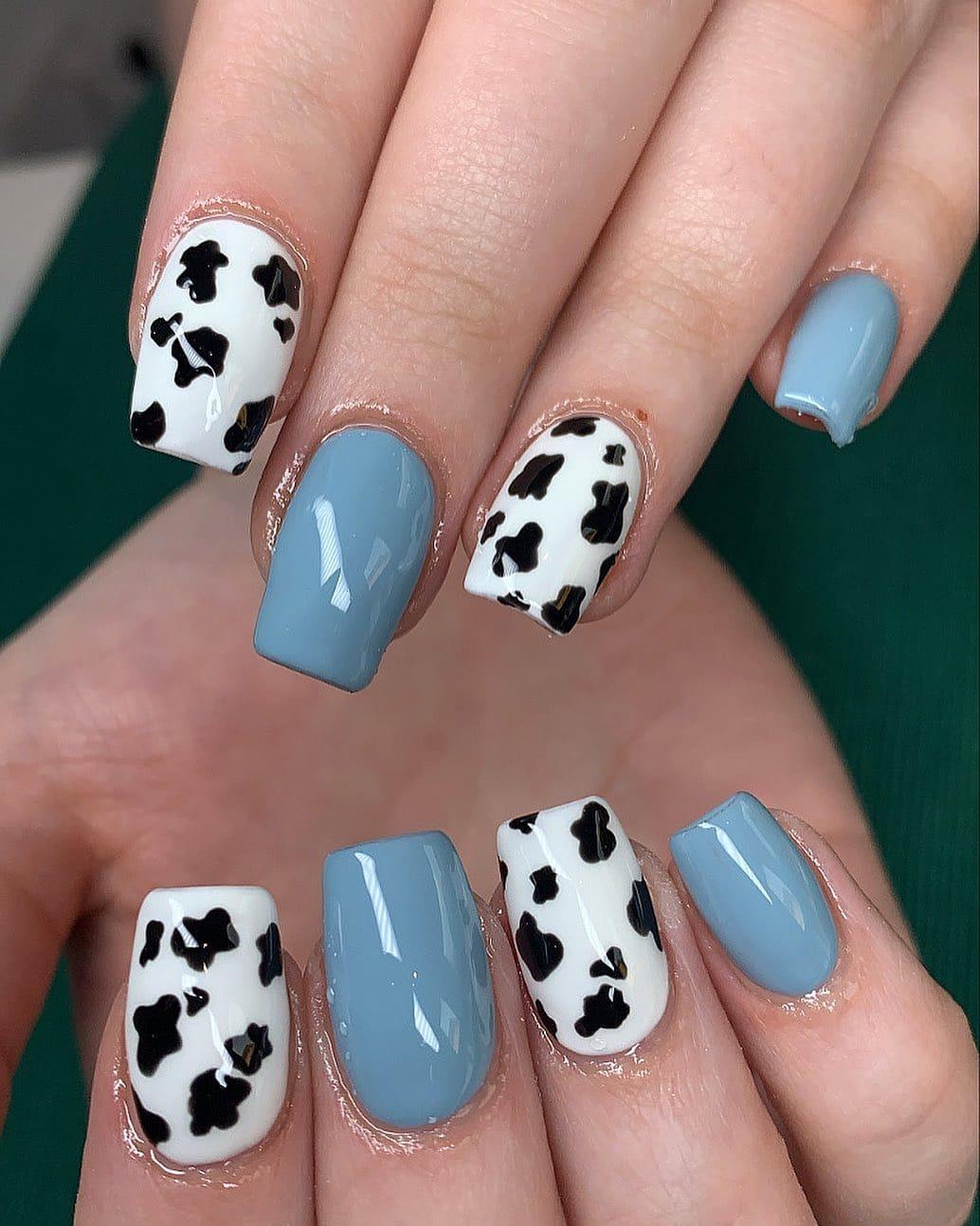 unghie bianche e nere