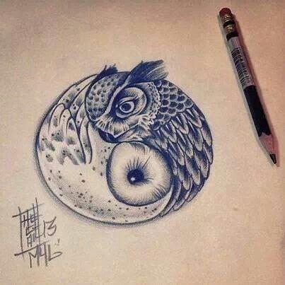 ying yang-tatoo