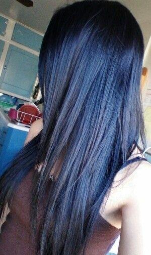 neri blu lisci lunghi