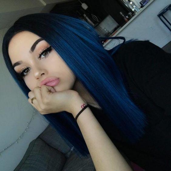 lisci lunghi neri blu