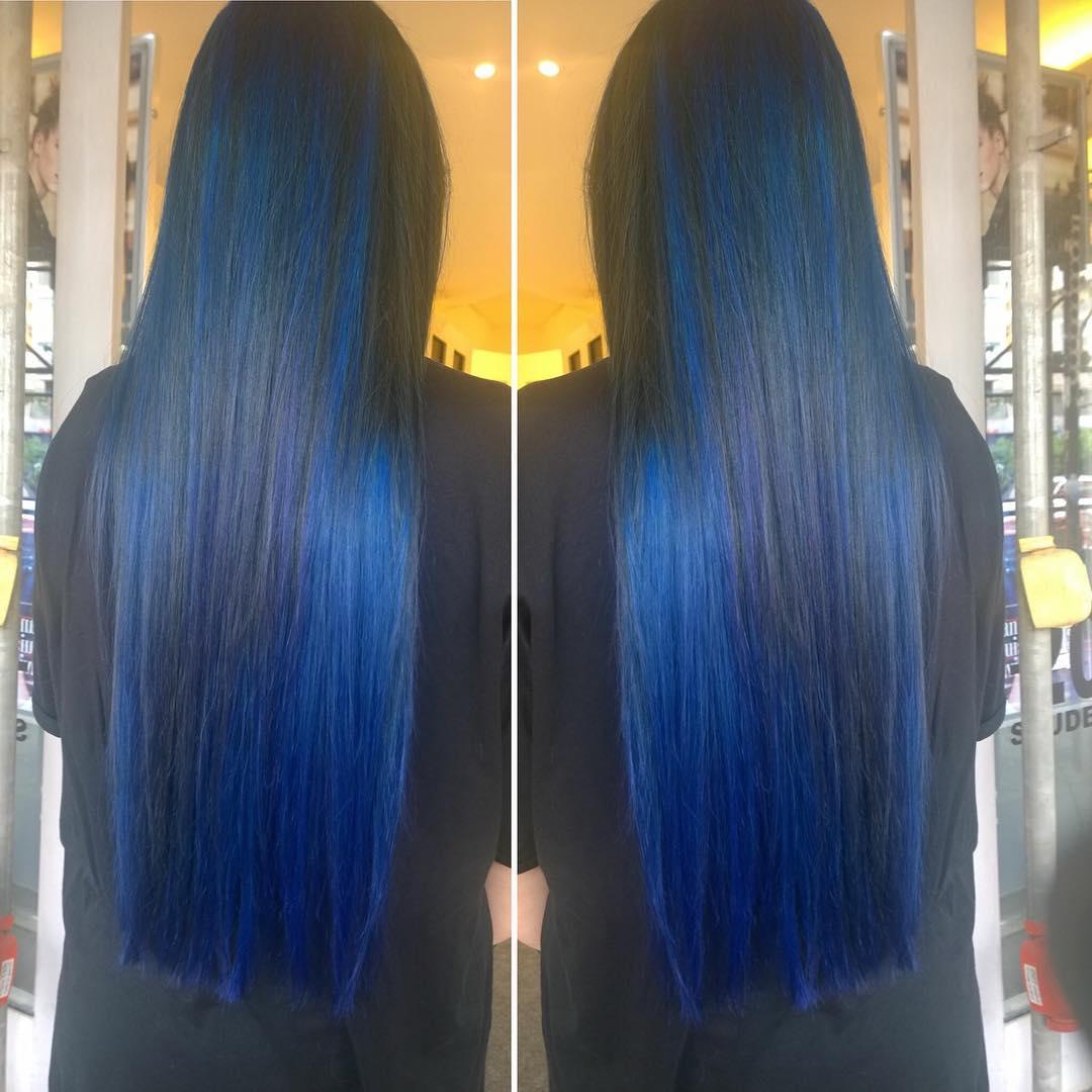 lunghi neri blu lisci